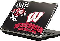 "15.4"" Notebook Laptop Computer Vinyl Skin Cover   Wisconsin Badgers"