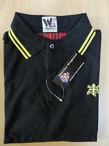 Warrior Polo Shirt Hemd Bl/Yellow Skinhead Oi Punk Ska