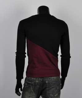 id korea_pop diagonal strip shirts Mens v neck Casual shirts long