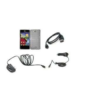 LG Lucid (Verizon) Premium Combo Pack  Smoke Colored Checkered TPU