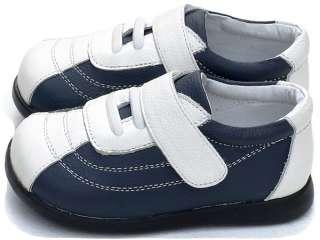 Boys Kids Toddler Childrens Infant Leather Shoes Blue