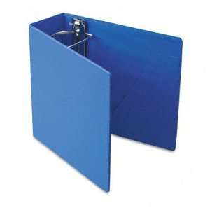 Heavyweight Vinyl Slant D Ring Binder, 4 Capacity, Blue