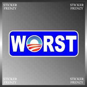 Anti Obama End of an Error Worst Funny Vinyl Euro Decal Bumper Sticker