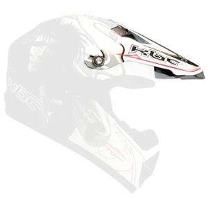 KBC Visor for Super X Helmet     /Gun White/Black: Automotive