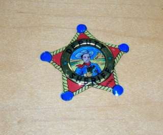 VINTAGE TIN LITHO COLORFUL DEPUTY SHERIFF BADGE POLICE