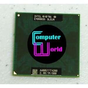Intel Dual Core T4200 2.0GHz Laptop CPU SLGJN Electronics
