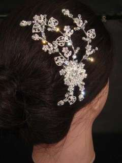 Bridal Bling Crystal Hair tiara rhinestone comb RB401