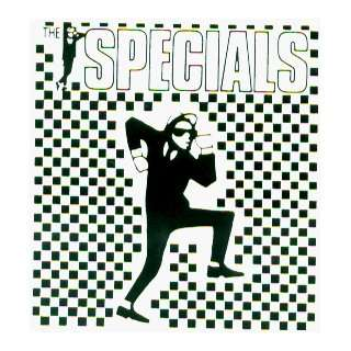 The Specials   Rude Boy on Ska Checkers with Logo   Sticker / Decal