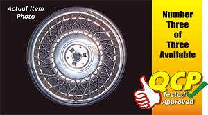 SEVILLE 15 WIRE SPOKE TYPE LOCKING WHEEL COVER HUB CAP, No. 3 of 3