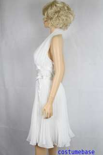 Monroes Subway Iconic White Seven Year Itch Dress Costume + Wig