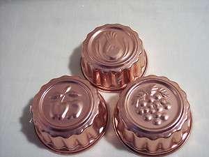 Vintage COPPER Jello Molds ~ Small Set/3