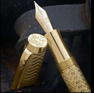 Conway Stewart Fountain Pen 18ct GOLD M Vermeil Limited