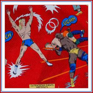 Kauffman Boy Wrestling Sport Super Hero Comic Book Strip VTG OOP FQ