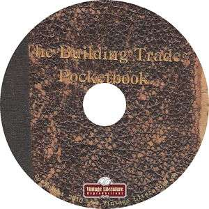 The Building Trades Pocket Book {1899} on CD