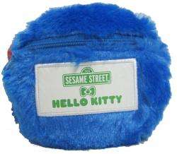 Sanrio Cookie Monster and Hello Kitty Coin Purse