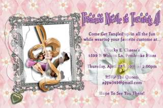 Disney Tangled Custom Photo Birthday Party Invitations With Envelopes