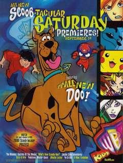 2002~KIDS WB~Cartoons~TV Promo~Scooby Doo~Print Ad Art