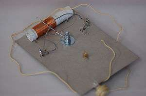 BUILD YOUR OWN CRYSTAL RADIO SET kit of parts CATS WHISKER, FOX HOLE
