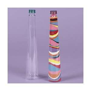 Plastic Triangular Cone Sand Art Bottles (Pack of 12