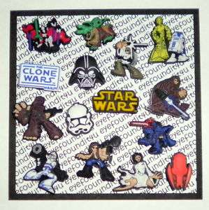 STAR WARS COMPLETE SET 15 SHOE CHARMS, FIT JIBBITZ CROC