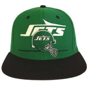 New York Jets Dash Retro Snapback Cap Hat Green Black
