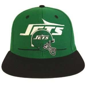 New York Jets Dash Retro Snapback Cap Hat Green Black