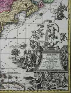 SPLENDID LARGE MAP OF NORTH AMERICA WITH LOUISIANA FLORIDA CANADA