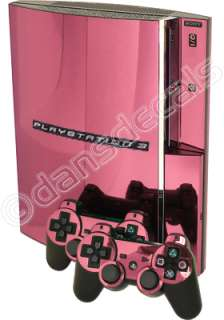 PINK CHROME SKIN for PS3 Playstation 3 system mod kit