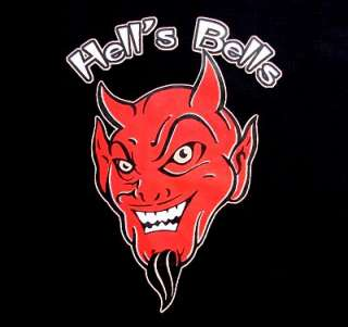 HELLS BELLS OLD SCHOOL DEVIL SATAN DEMON T SHIRT XT31