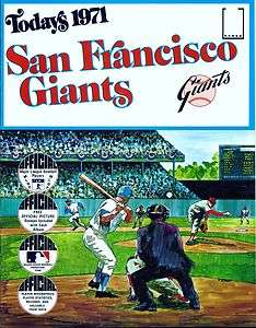 1971 Dell Todays Team Stamps San Francisco Giants NMT+