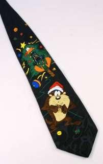 Looney Tunes Xmas Novelty Neck Tie Daffy Duck Taz