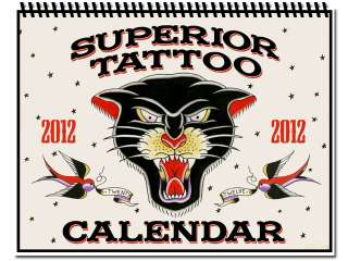 Tattoo Supplies 2012 CALENDAR Sailor Jerry Ed Hardy Traditional Style