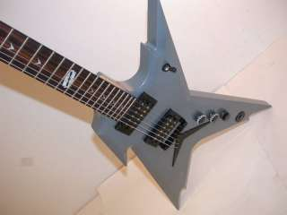 Dean Razorback Dimebag Electric Guitar, Gun Metal Grey, RZR DB GMG NC