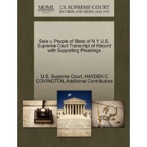 Saia v. People of State of N Y U.S. Supreme Court Transcript of Record
