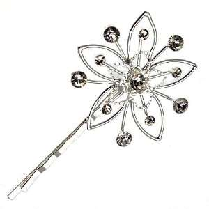 Lewisia Silver Crystal Hair Clip Jewelry