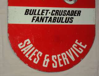 ENAMEL SIGN ROYAL ENFIELD BULLET MOTOR BIKE RARE CIRCA 1930S