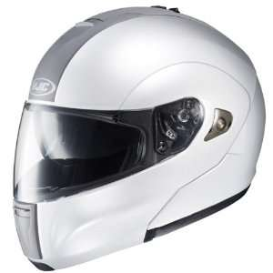 HJC IS MAX White Full Face Modular Motorcycle Helmet Automotive