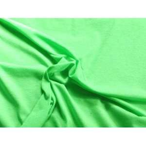 Cotton/Lycra Stretch Green Fabric Arts, Crafts & Sewing