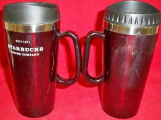 Starbucks Insulated Travel Mugs Deep Red Metal Lining