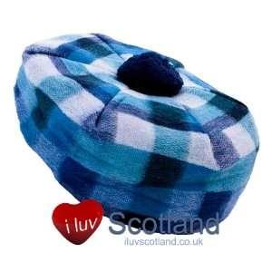 Cashmere Tammy Hat Dark Blue  Light Blue