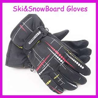 New Man Black&Trickle Ski Snowboard Gloves XLarge