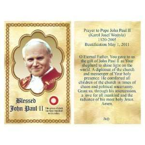 Blessed John Paul Relic Cards 3 1/2 x 2 1/4 Everything