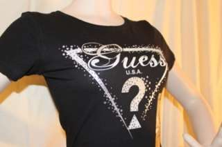 2012 SEXY GUESS Triangle Logo Short Sleeve T Shirt Gray SIZE XS/S/M