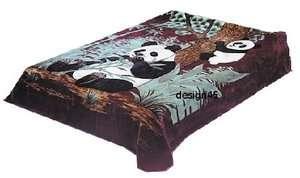 Solaron Korean Blanket throw Thick Mink Plush King size Panda Bear