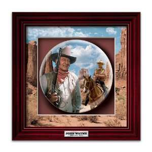 John Wayne American Hero Shadowbox Plate Home & Kitchen