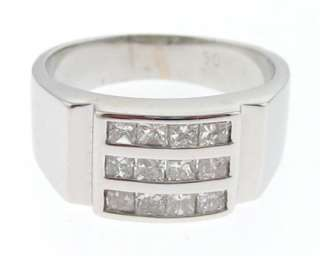 Estate 1/2ct Princess Cut Diamonds 14k White Gold Ring