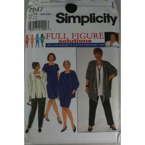 Simplicity 7947 Pattern Womens Dress,Tunic,Jacket,Pant Designer