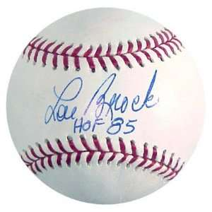 Lou Brock Autographed Baseball with HOF 1985 Inscription