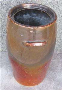Antique Peoria Pottery 4 Gallon Butter Churn Stoneware Crock   Brown