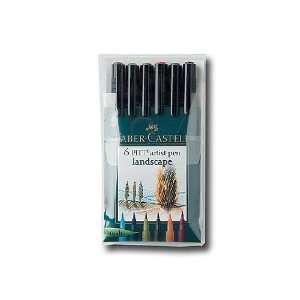 Faber Castell Pitt Artist Brush Pen Set landscape set of 6